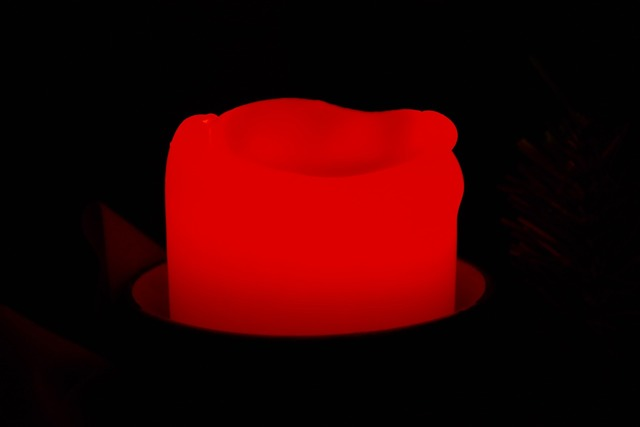 Candle red bright.