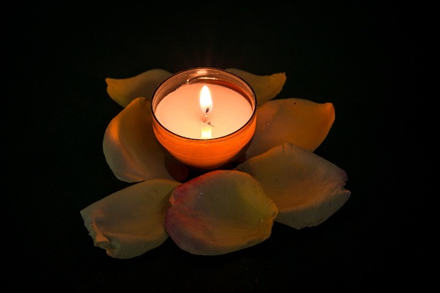 Candle rose tealight, religion.
