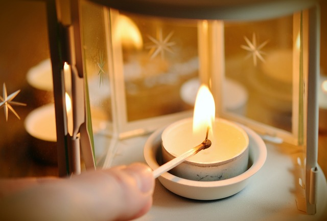 Candle tealight match.