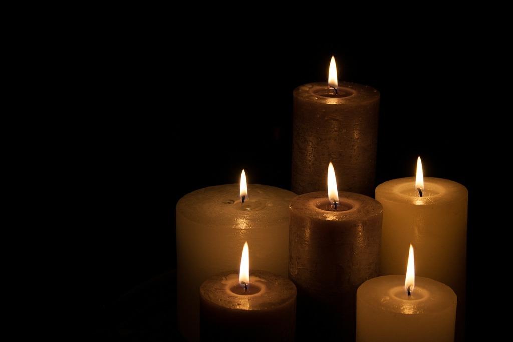 Candles christmas dark, emotions.