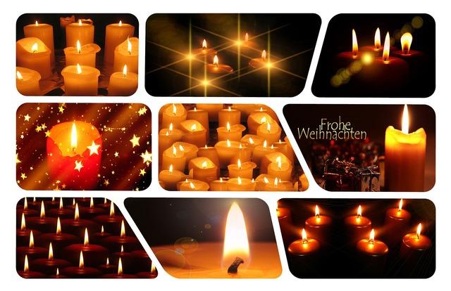 Candles christmas prayer, emotions.