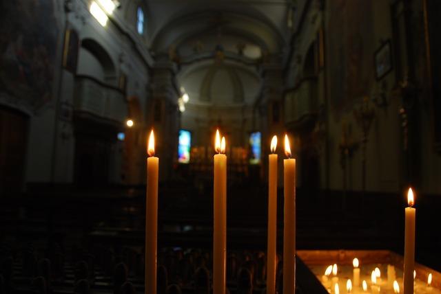 Candles church light, religion.