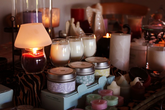 Candles display warm.
