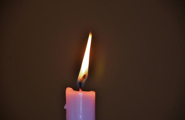 Candles flame christmas.