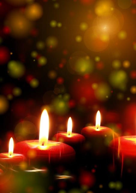Candles light lights, religion.