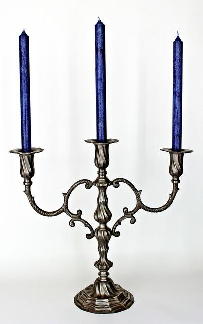 Candlestick candles decoration.