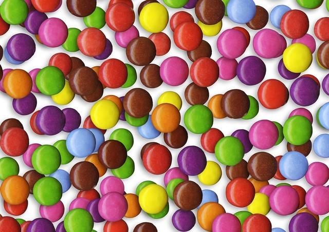 Candy smarties bulk.