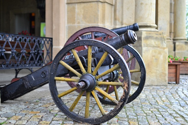 Cannon armament castle, places monuments.