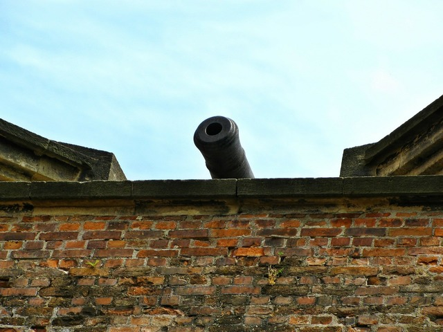 Cannon fortress castle.