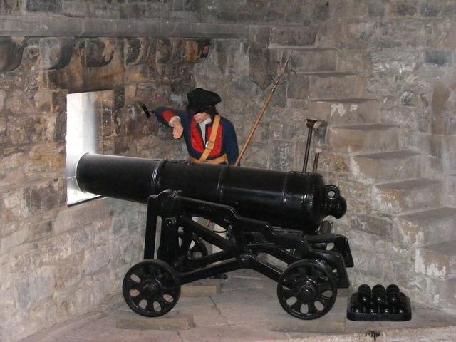 Cannon gun battlements.