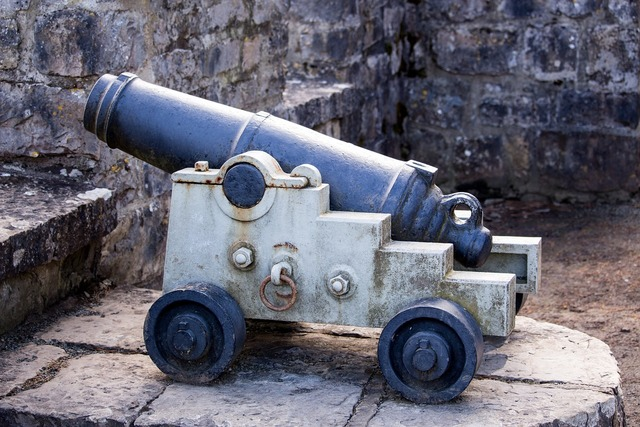 Cannon gun rampart, places monuments.