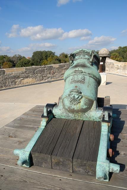 Cannon weapon spanish, places monuments.