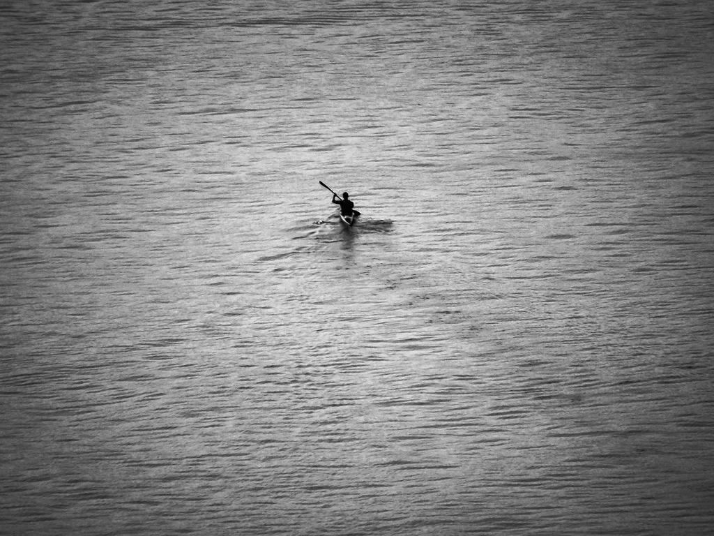 Canoe soledad rowing.