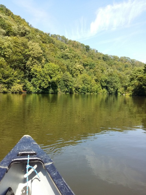 Canoeing canoe tour lahn, nature landscapes.