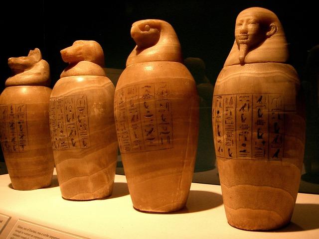 Canopic jars egypt egyptian.