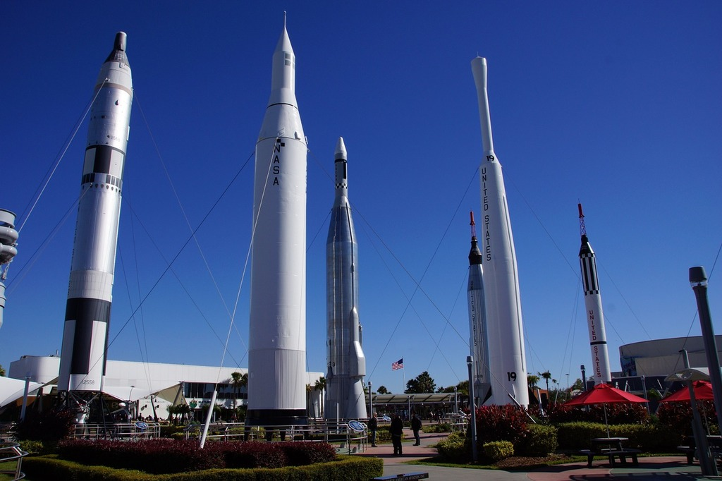 Cape canaveral usa space center, science technology.
