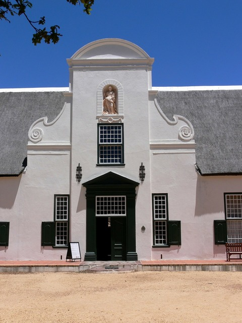 Cape dutch farmhouse groot constantia, architecture buildings.