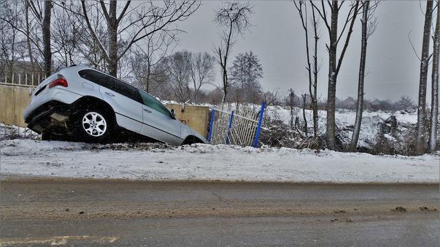 Car crash accident, transportation traffic.