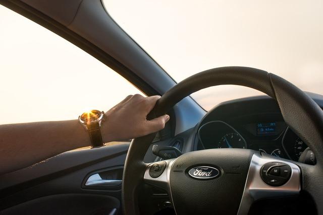 Car driving man, transportation traffic.