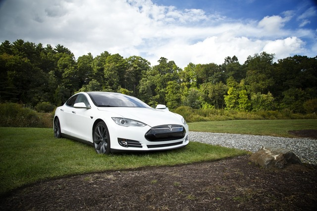 Car electric tesla s, transportation traffic.