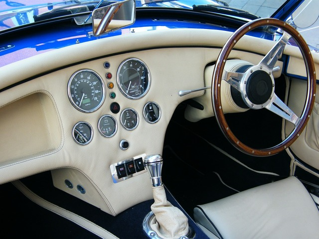 Car interior classic, transportation traffic.