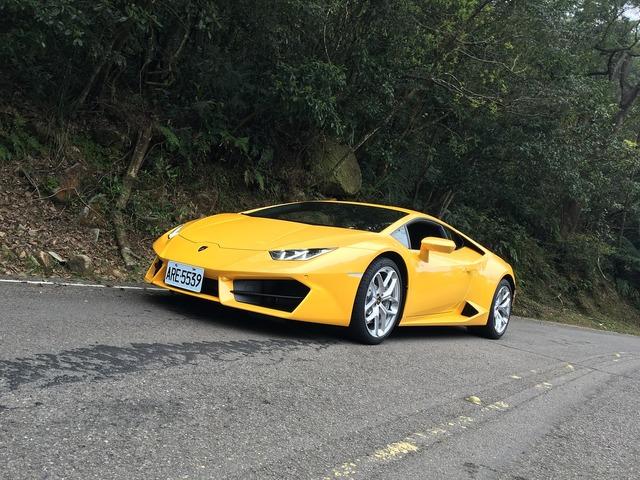 Car lamborghini yellow, transportation traffic.