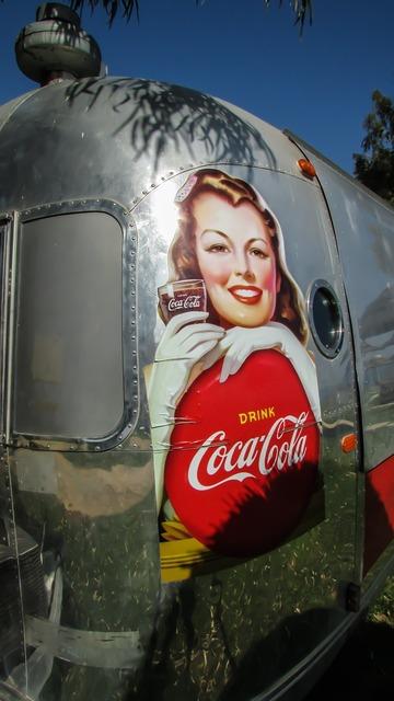 Caravan trailer soda fountain, travel vacation.