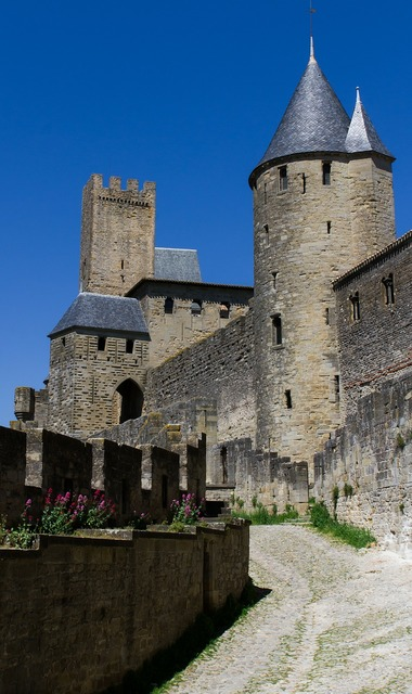 Carcassonne france castle, places monuments.