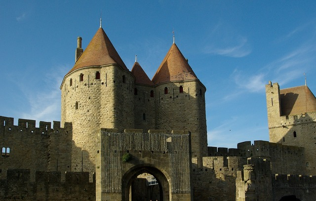 Carcassonne france medieval city.