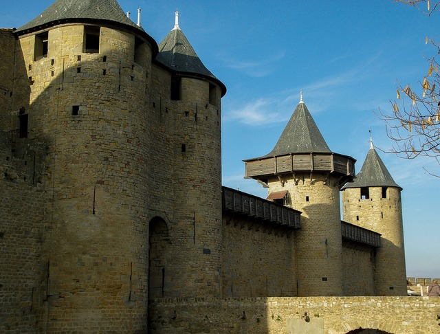 Carcassonne france ramparts.