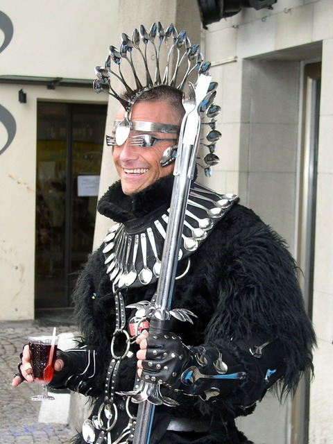 Carnival costume panel, people.