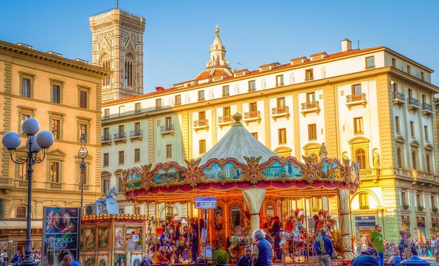 Carousel florence italy, architecture buildings.