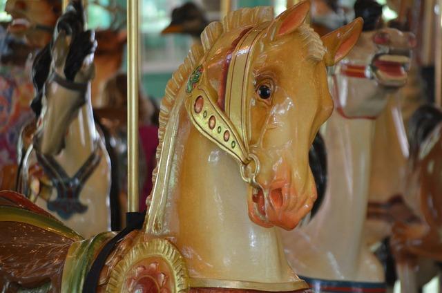 Carousel horse merry.