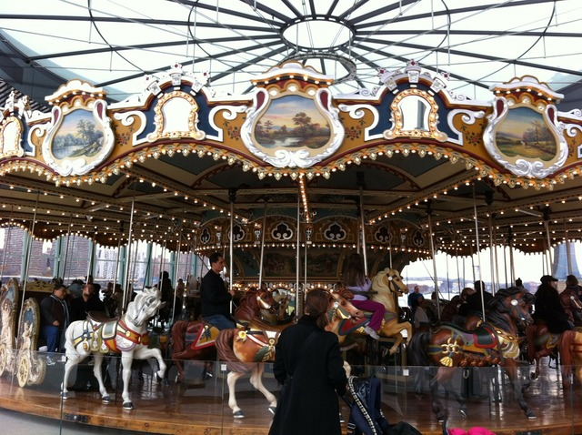 Carousel merry-go-round ride.