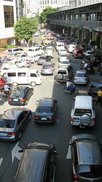 Cars traffic philippines, transportation traffic.