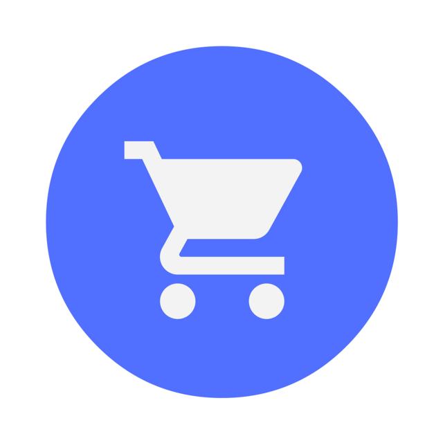 Cart ecommerce online, computer communication.
