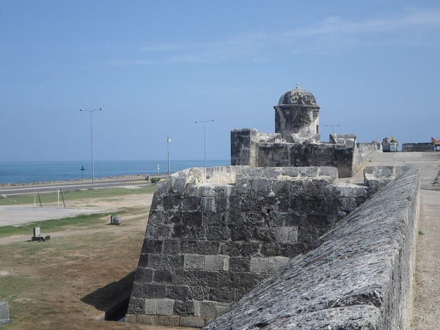 Cartagena wall monument, architecture buildings.