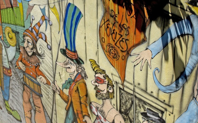 Cartoon wall painting.