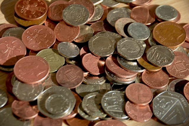 Cash coins money, business finance.