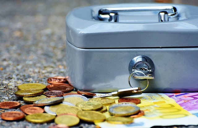 Cashbox money currency, business finance.