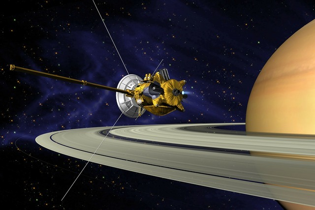 Cassini saturn orbit insertion, science technology.