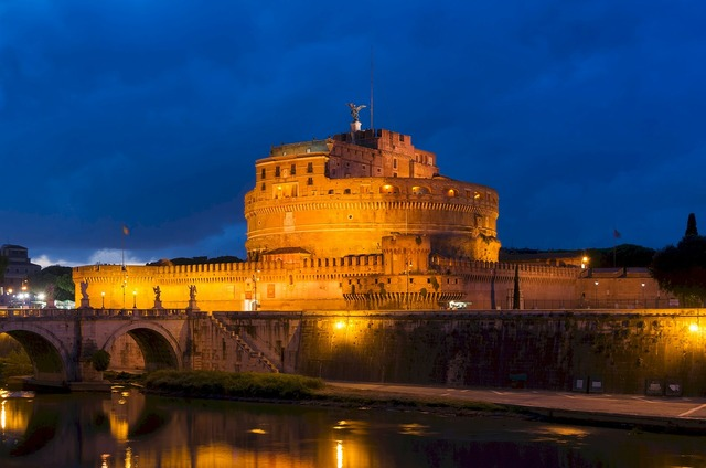 Castel sant'angelo castle of the holy angel mausoleum of hadrian, architecture buildings.