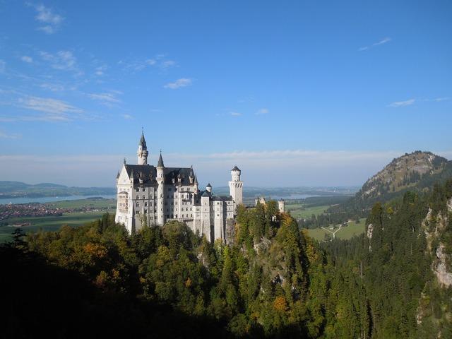 Castle architecture landmark, architecture buildings.
