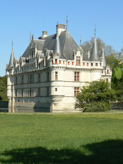 Castle azay curtain châteaux de la loire, architecture buildings.