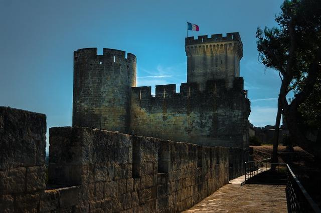 Castle beaucaire tower, architecture buildings.