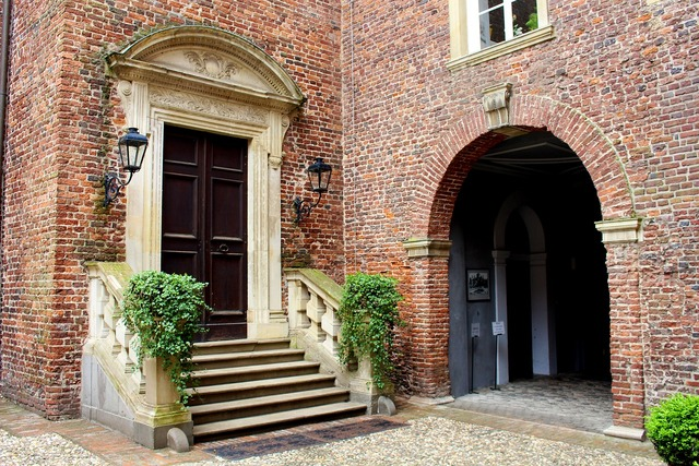 Castle courtyard concluded anholt, architecture buildings.