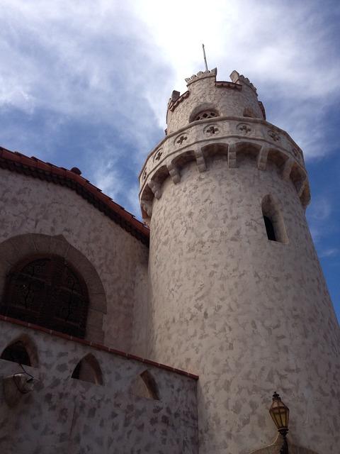 Castle death valley, architecture buildings.