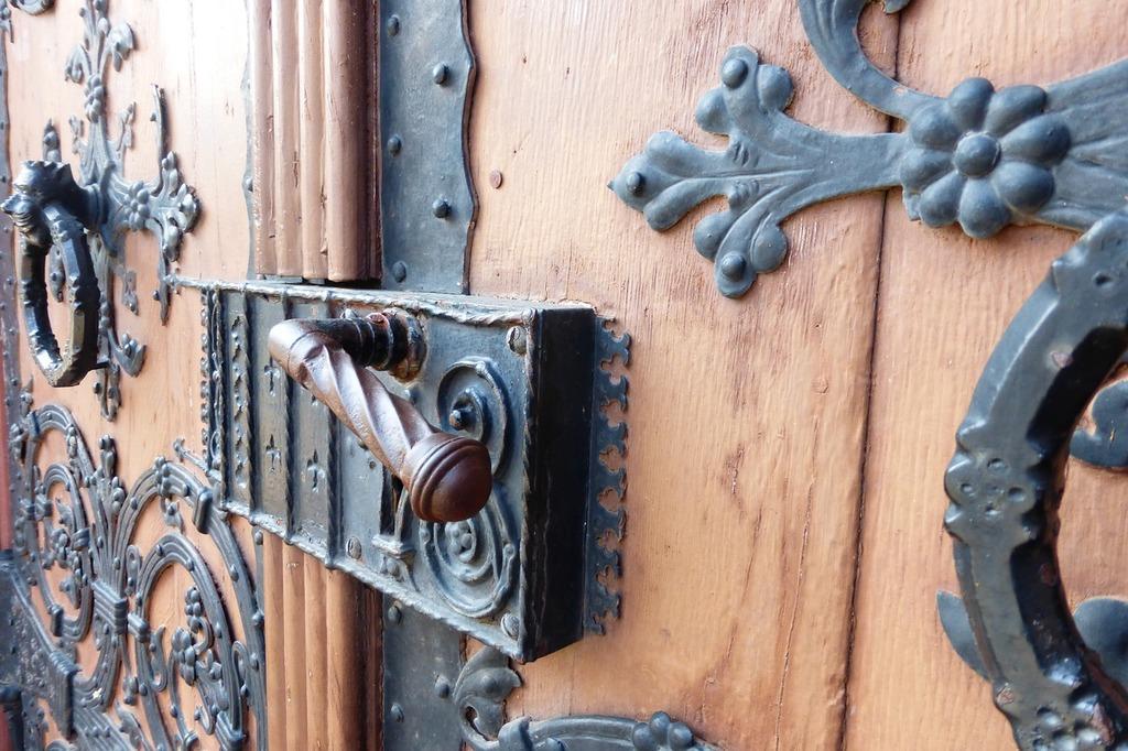 Castle door goal.