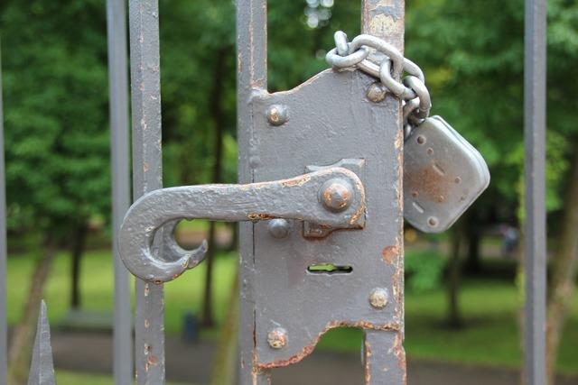 Castle door lock door.
