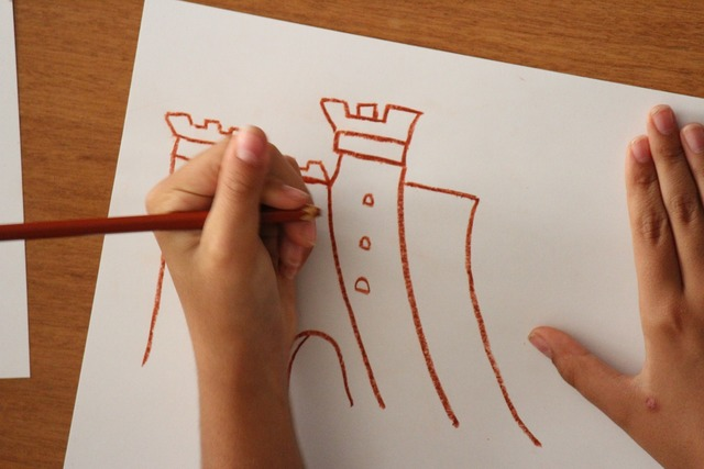 Castle drawing childhood.